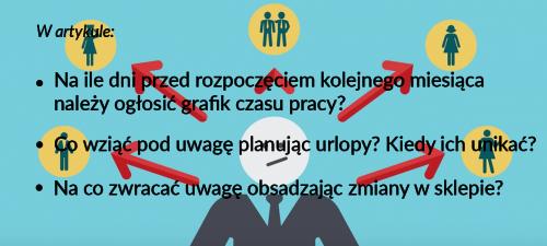 grafik pracy wskazówki prawo urlopy zmiany w sklepie